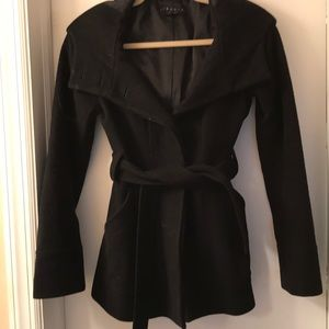 Theory cropped pea coat-**price just reduced**